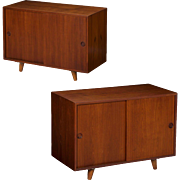 Pair of Peter Hvidt Danish Mid Century Modern Cabinets Nightstands
