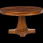 Italian Neoclassical Style Inlaid Circular Table