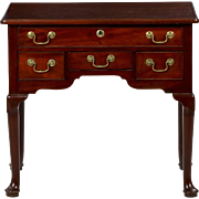 English Georgian Mahogany Antique Lowboy Chest of Drawers, 18th Century