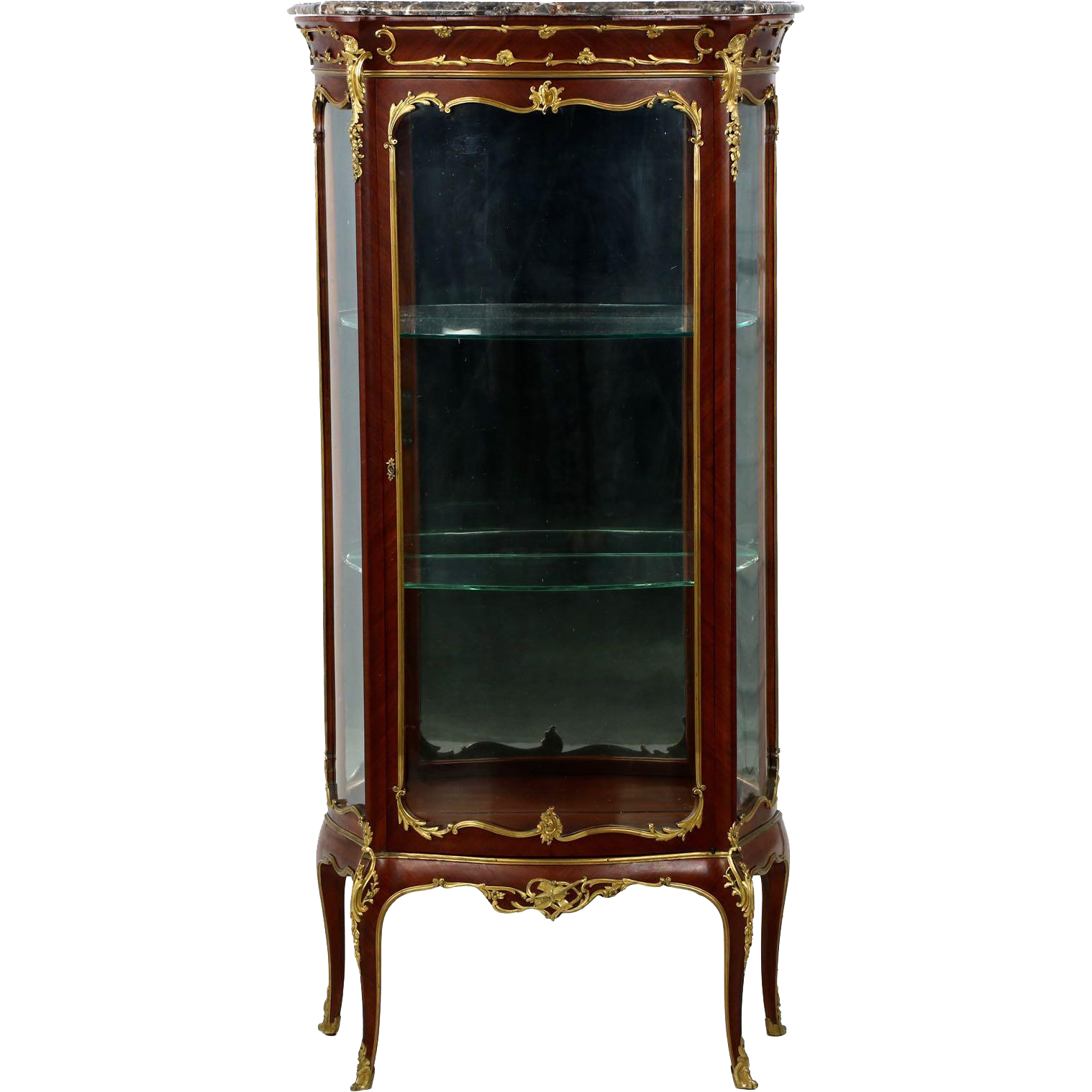 exceptional french louis xv style gilt bronze vitrine display cabinet from sillafineantiques on. Black Bedroom Furniture Sets. Home Design Ideas