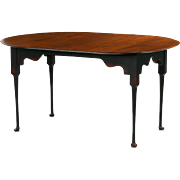 American Tiger Maple Dining Table, Benchmade in Queen Anne taste, 20th Century