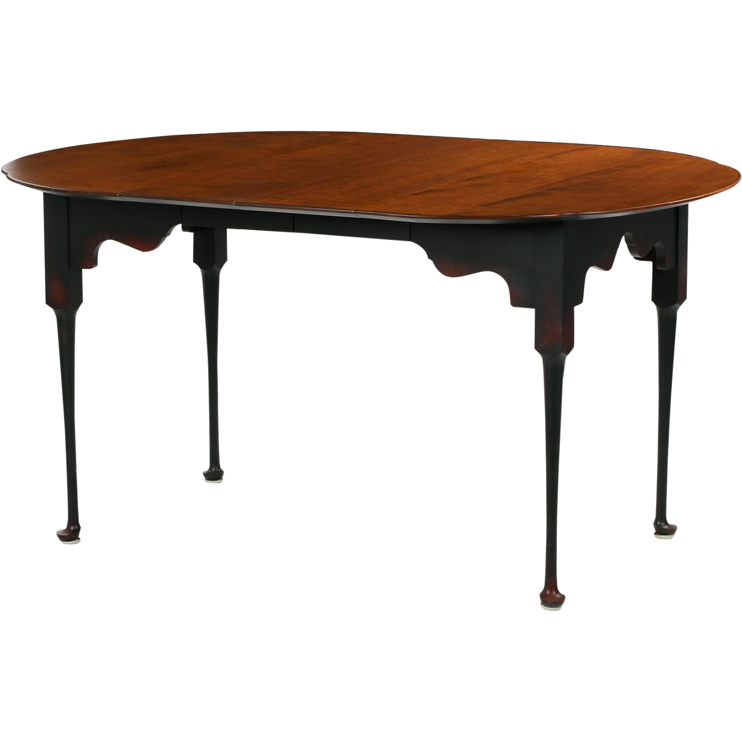 american tiger maple dining table benchmade in queen anne taste 20th from sillafineantiques on. Black Bedroom Furniture Sets. Home Design Ideas