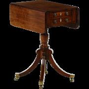 English Regency Mahogany Pembroke Table, Antique c. 1810
