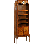 Small French Louis XV Style Antique Bibliotheque Bookcase c. 1900
