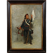 Roger de Vane Original Antique Franco/Russian Painting of Soldier, 19th Century