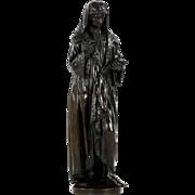 """Large 40"""" Original Bronze Sculpture, poss. William Caxton, 19th Century"""