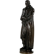 Large Antique Bronze Sculpture of James Watt, 19th Century