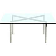 Modern Chrome Barcelona Coffee Table by Mies van der Rohe for Knoll