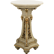 French Neoclassical Antique Side Table w/ Original Paint, 19th Century