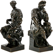 Pair of Antique Grand Tour Bronze Sculpture of Medici, 19th Century