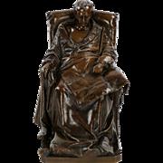 "Vincenzo Vela Bronze Sculpture ""Last Days of Napoleon"" by Barbedienne"