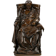 "Vincenzo Vela Bronze Sculpture ""Last Days of Napoleon"" by Barbedienne"