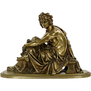 Fine Antique Bronze Sculpture of Virgil after A. Carrier, 19th Century