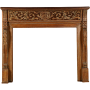 Antique Limed Oak Fireplace Surround in the Georgian Taste
