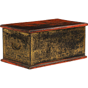Chinese Gilt Decorated Antique Blanket Chest, 19th Century