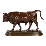 Rosa Bonheur Antique French Bronze Sculpture of a Bull, 19th Century