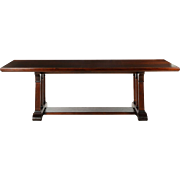 American Arts and Crafts Trestle Table in Mahogany c. 1920-40
