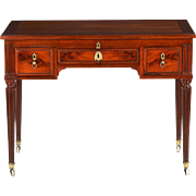 French Louis XVI Antique Mahogany Writing Dressing Table, 18th Century