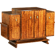 Fine Vintage Art Deco Console Cabinet Server c. 1930