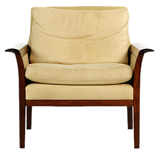 Mid Century Modern Rosewood Lounge Chair by Hans Olsen for Vatne Møbler
