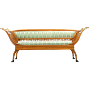 Neoclassical Antique Canape Settee Sofa, 19th Century
