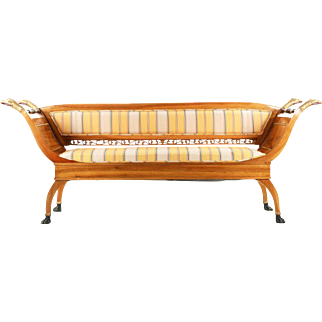 Exceptional Neoclassical Antique Settee Canapé Sofa, 19th Century