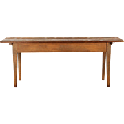 19th Century American Harvest Dining Table in original paint