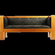 Biedermeier Birch Antique Sofa Settee, 19th Century