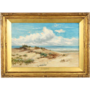 Antique Landscape Painting of Coastal Wales attr. to Benjamin Williams Leader
