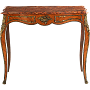 French Louis XV Style Antique Center Table, 19th Century