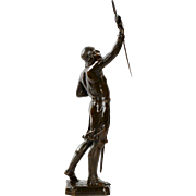 "French Bronze Sculpture of Crusader, ""Credo"" by Julien Monier"