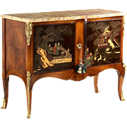 Fine French Louis XV Antique Commode Cabinet, 19th Century