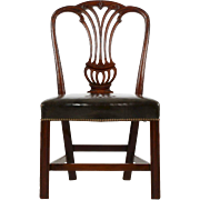 English Antique Mahogany Side Chair, Late 18th Century