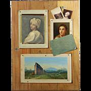 Francesco Allegiani Antique Trompe d'Oeil Painting, Signed