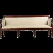 American Classical Mahogany Antique Sofa, Baltimore, Maryland c. 1820