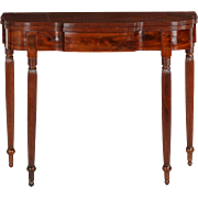 American Federal Antique Mahogany Card Table, Philadelphia c. 1790-1815