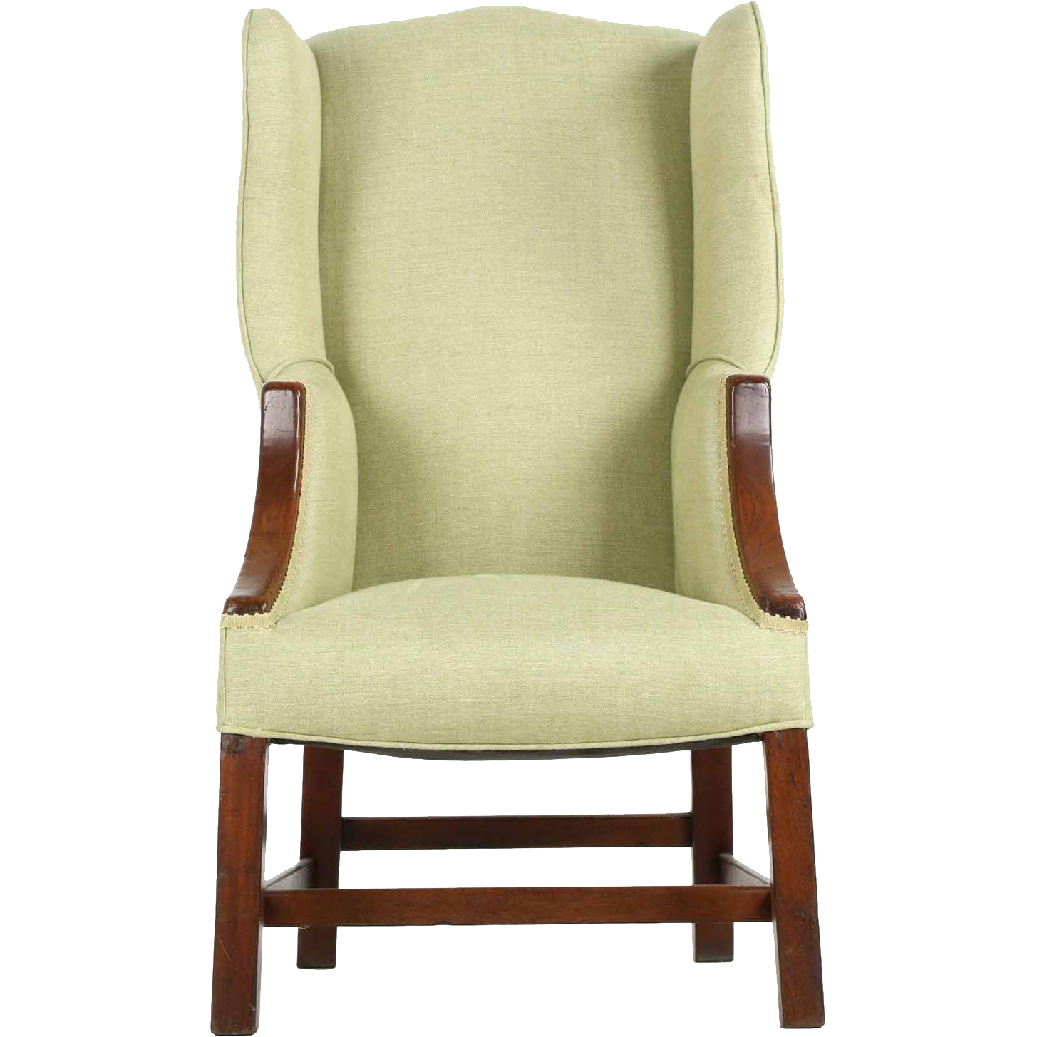 19th century english georgian wingback arm chair of small for 5th avenue salon hilton head
