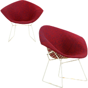 Vintage Pair of Bertoia Diamond Chairs for Knoll Associates