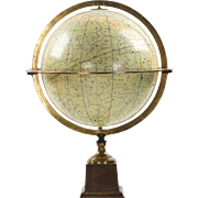 French Antique Celestial Table Globe by Charles Dien, 19th Century