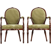 Pair of English George III Period Antique Side Chairs, late 18th century