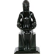Louise Allen Hobbs Art Deco Bronze Sculpture by Gorham c. 1914