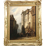"Sir William Allan Antique Painting of ""The Arrest"", 19th Century"