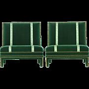 Vintage Pair of Hollywood Regency Slipper Chairs