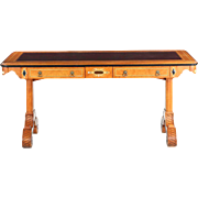 John Widdicomb Leather Top Writing Desk, 20th Century