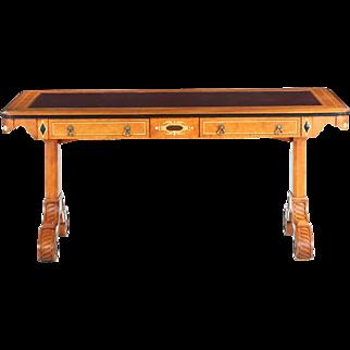 John Widdicomb Leather Top Writing Desk, 20th Century