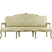 French Louis XV Style Antique Settee Sofa, 19th Century