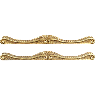 Pair of French Antique Carved Giltwood Pelmets, 19th Century