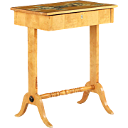 Biedermeier Style Birch Antique Side Table, 19th Century