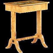 Biedermeier Style Birch Antique Side Table, 19th Century