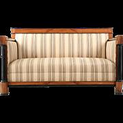 Biedermeier Antique Cherrywood Sofa Settee Canape, 19th Century